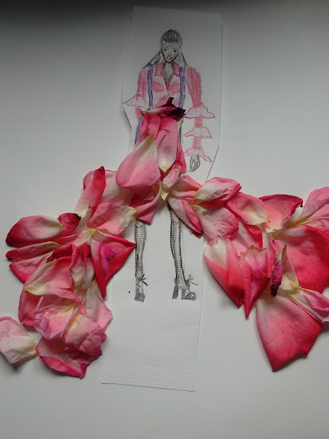 #fashionillustration  #modaodaradosti ružine latice