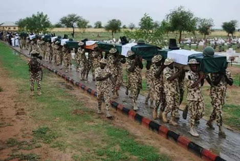 Photos: Mass Burial Of Soldiers Killed During Boko Haram Ambush
