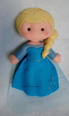 felt doll Elza Ana frozen