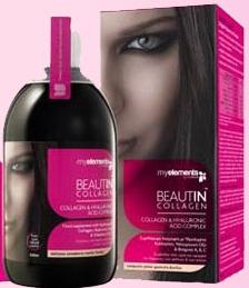 Imaginea cutiei si sticlei produsului de intinerire si revitalizare, Beautin Colagen Lichid