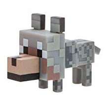 Minecraft Series 4 Wolf Overworld Figure