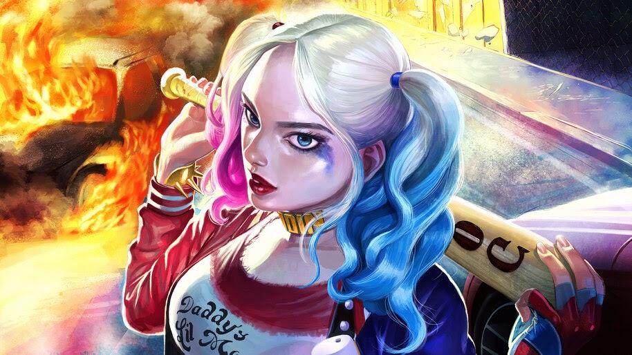 Harley Quinn, Baseball Bat, 4K, #6.408
