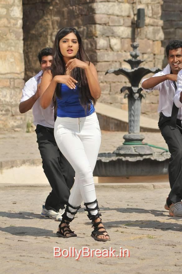 Neha Deshpande Photos in Blue Top From The Bells Movie, Neha Deshpande Hot Pics in blue Top, Tight Jeans from The Bells Movie