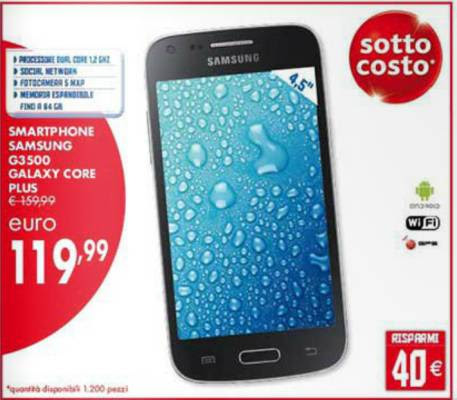 Samsung galaxy core prezzo usato