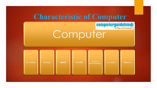 Characteristic of Computer : कंप्यूटर की विशेषता
