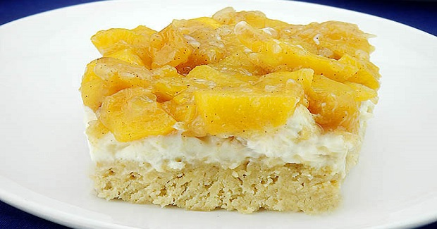 Peaches And Cream Cookie Bars Recipe