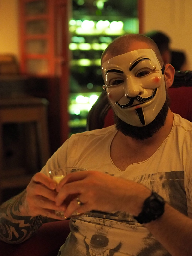 Wearing a mask in Anonymous Prague