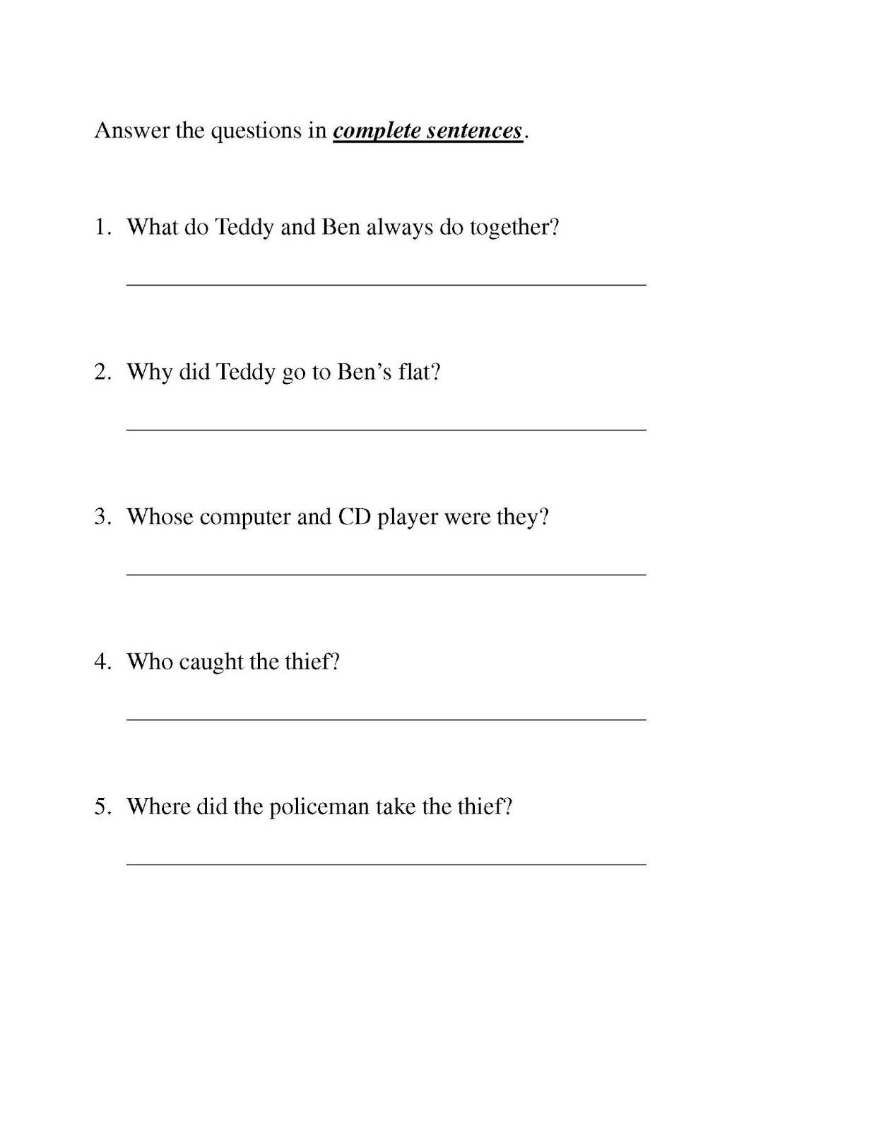 Mama Resources P5 English Worksheet