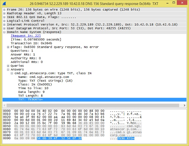 A DNS packet detail shown in Wireshark