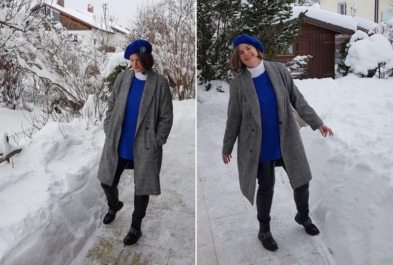 Kombination in klassischen Winterfarben