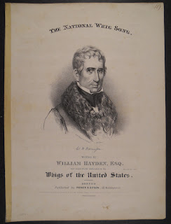 "A booklet titled ""The National Whig Song."""