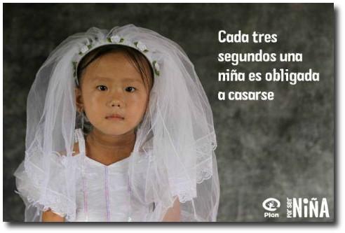 Cada tres segundos una niña es obligada a casarse