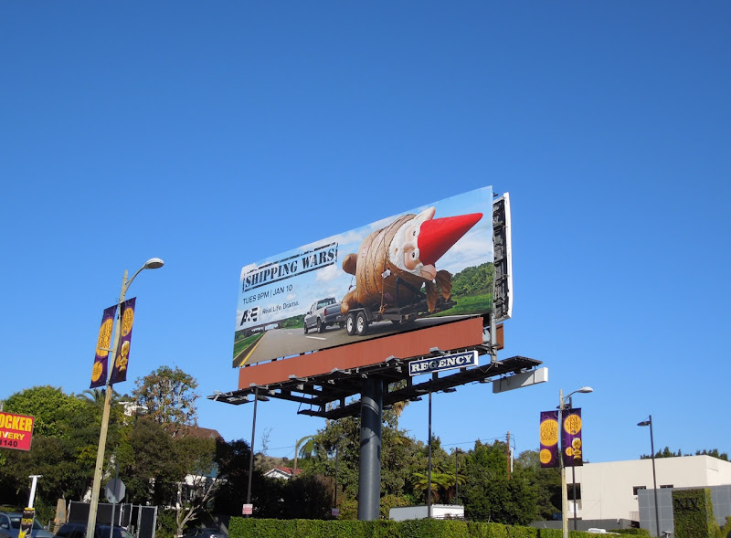 Shipping Wars Gnome TV billboard