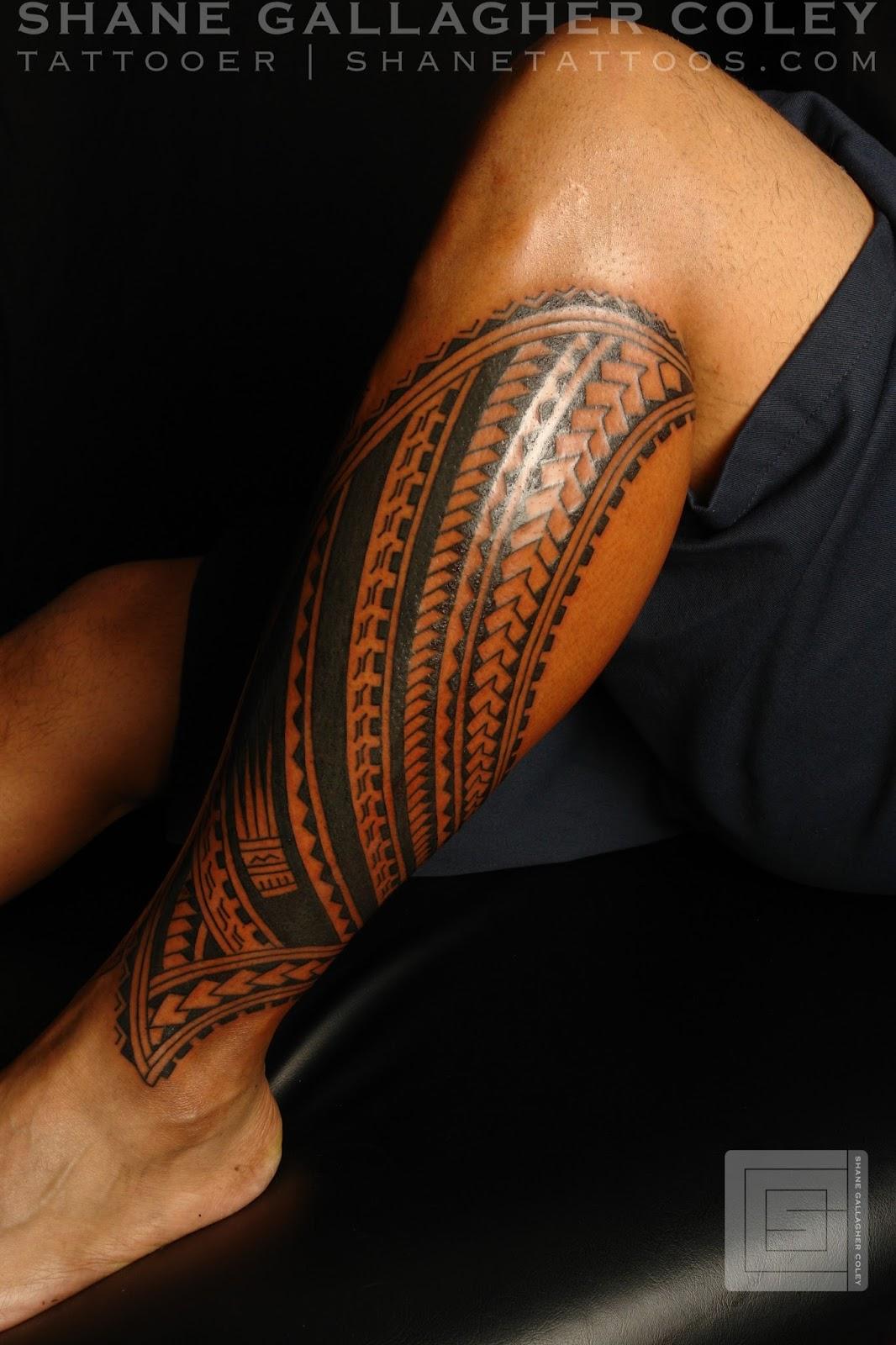 Maori Calf Tattoo: MAORI POLYNESIAN TATTOO: Polynesian Calf Tatau