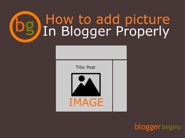 How To Add Image in Blogger Properly