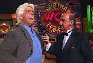 WCW Spring Stampede 1997 - Ric Flair announced his return to action