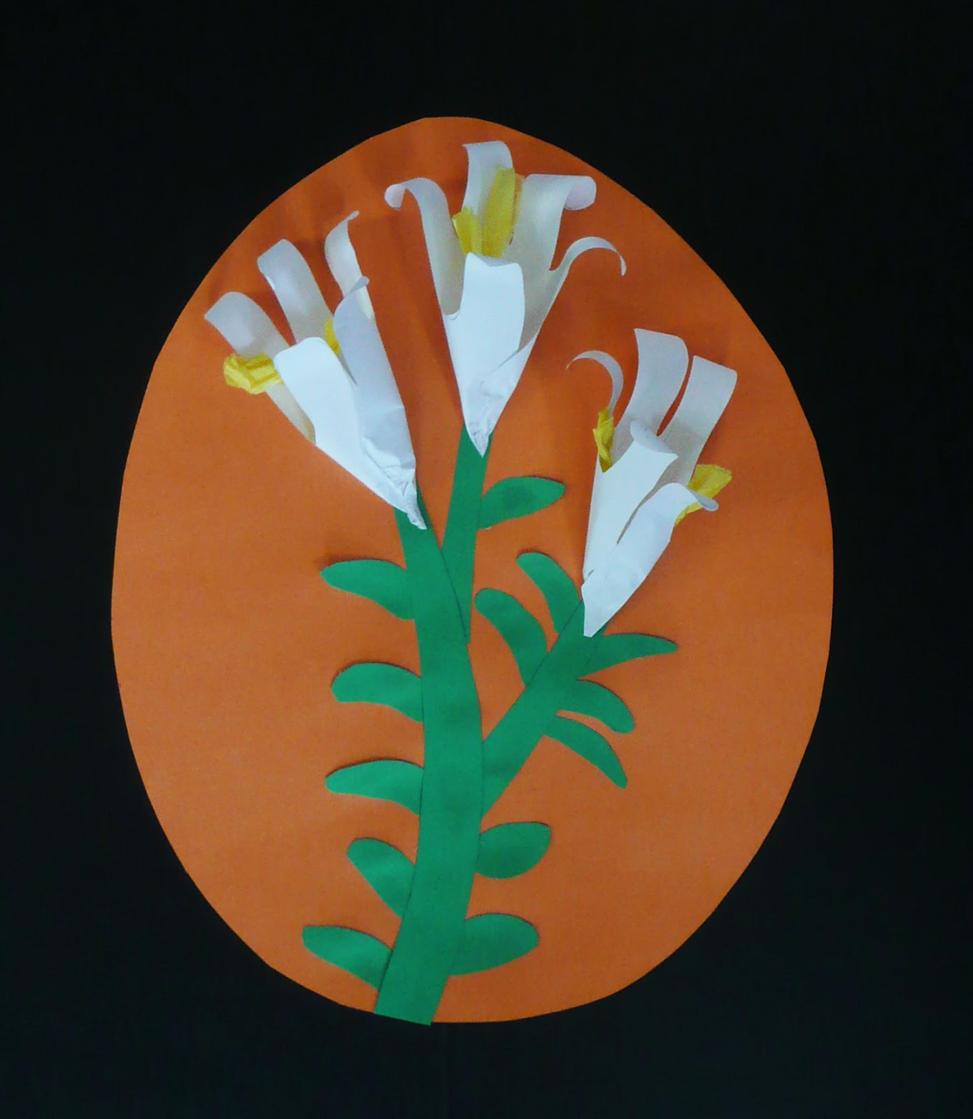 Simple DIY Paper Easter Lily Tutorial and Pattern to Make Today ... | 1600x1391