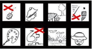 bentuk gambar wartegg tes yang salah