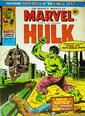 Mighty World of Marvel #152, Hulk vs Rhino