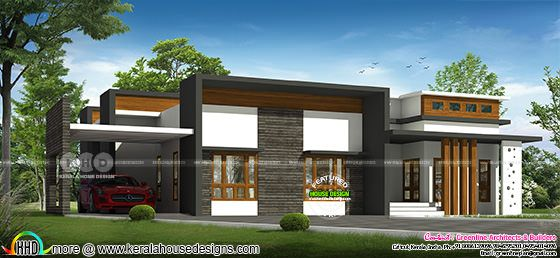 Modern Single Floor 20 Lakhs cost estimated Home