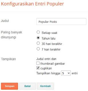 Pada posting kali ini saya akan membahas mengenai bagaimana cara menciptakan  Cara Membuat Widget Popular Post Menjadi Keren Pada Blog