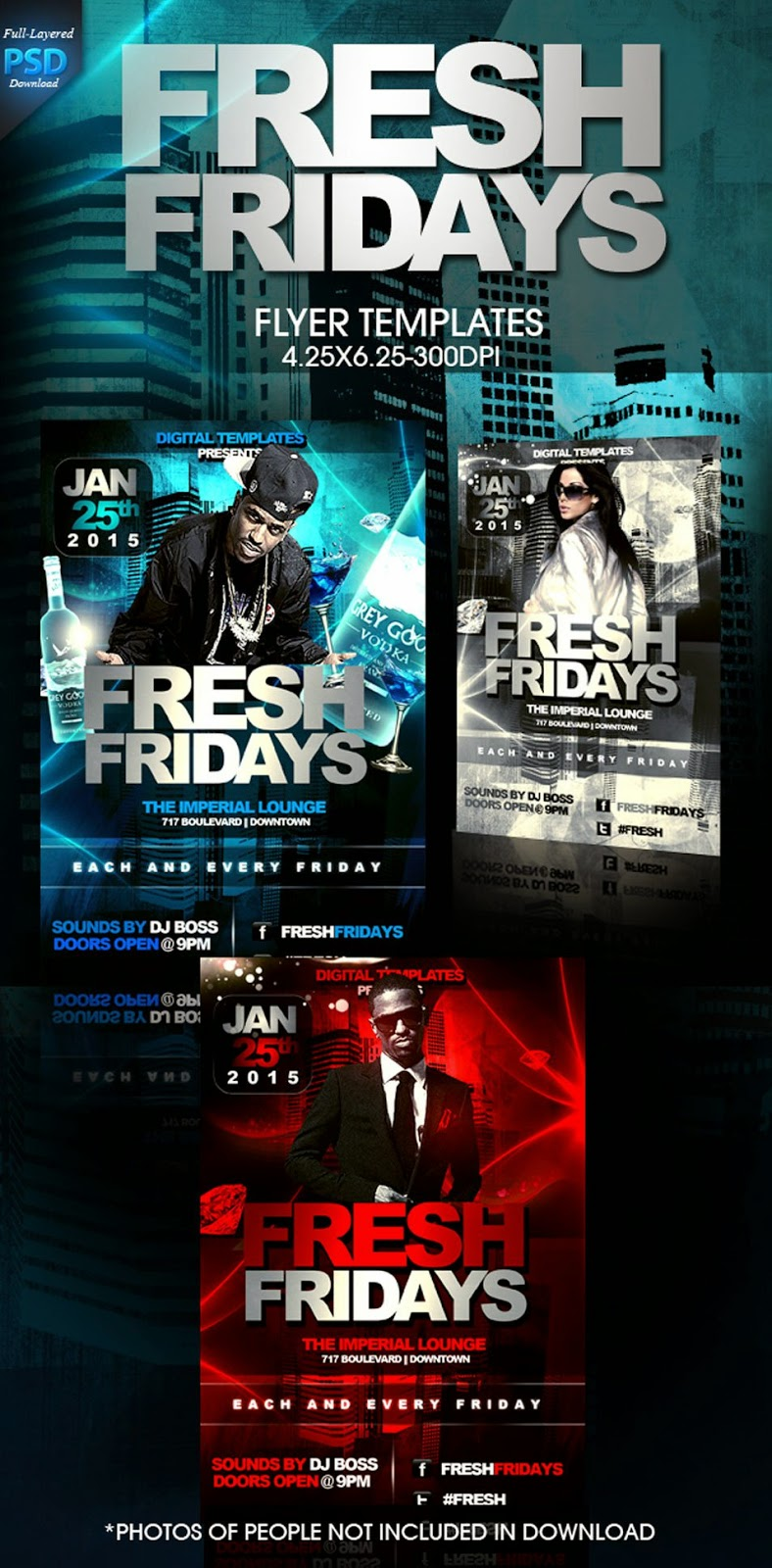 Free Fresh Flyer Template PSD