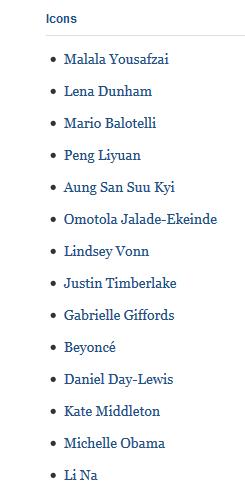 Untitled Time Magazine names Omotola 2013 TIME 100 Icon list