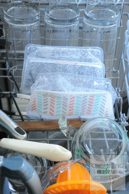 Reusable bag in the dishwasher