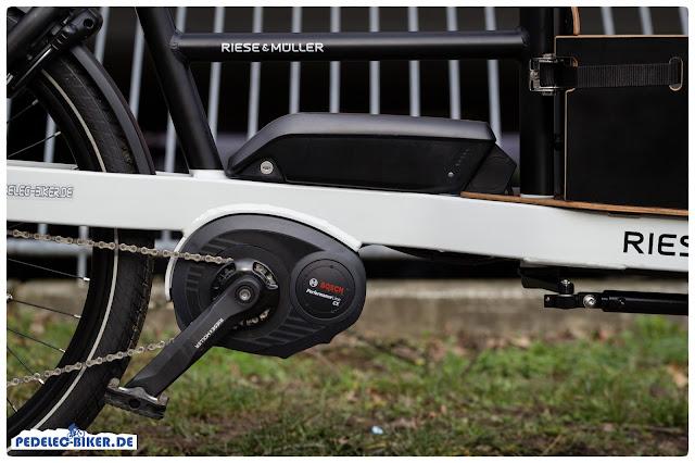 Der Bosch Performance CX eignet sich mit seinem hohen Drehmoment besonders gut für Lasten-eBikes wie das Packster 40.
