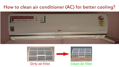 how to clean air conditioner filter at home for better cooling