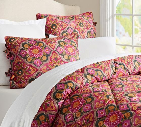 pottery barn bright, colorful bedding