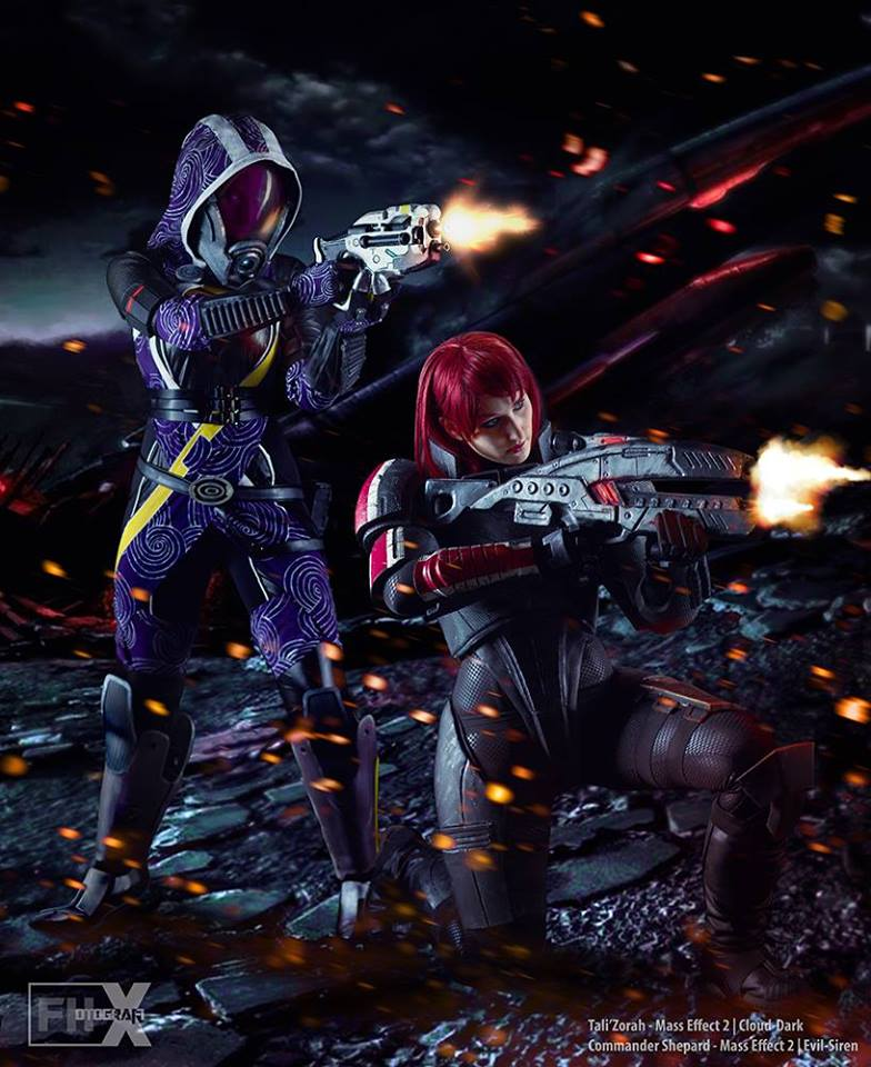 Commander Shepard, Tali, Cosplay, Mass Effect, Evil Siren Cosplay, Cloud Dark Cosplay, FHotografix, косплей, Шепард, Тали