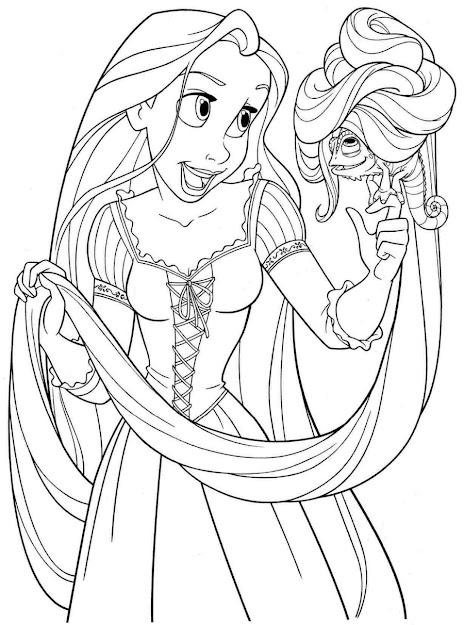 Princess Coloring Pages Rapunzel