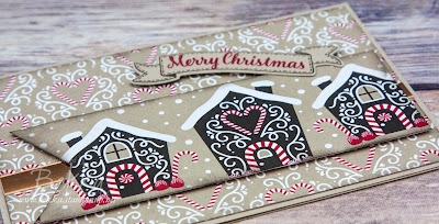 Make in a Moment Monday Candy Cane Lane Houses made using Stampin' Up! UK Supplies