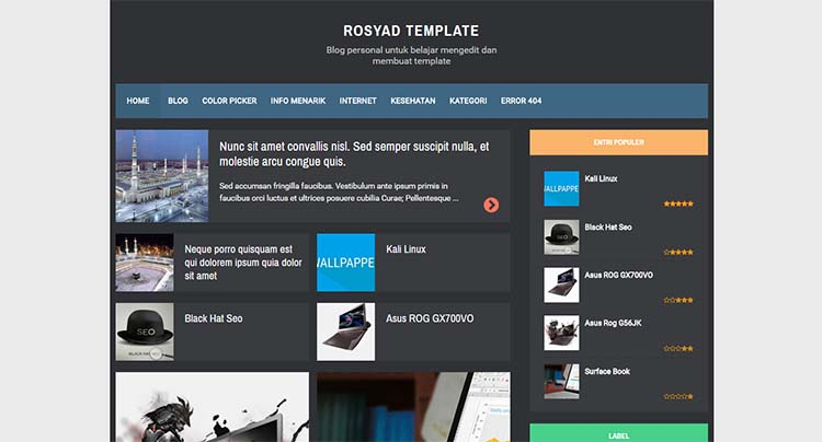 Free Blogger Template - RBZ Semi Dark