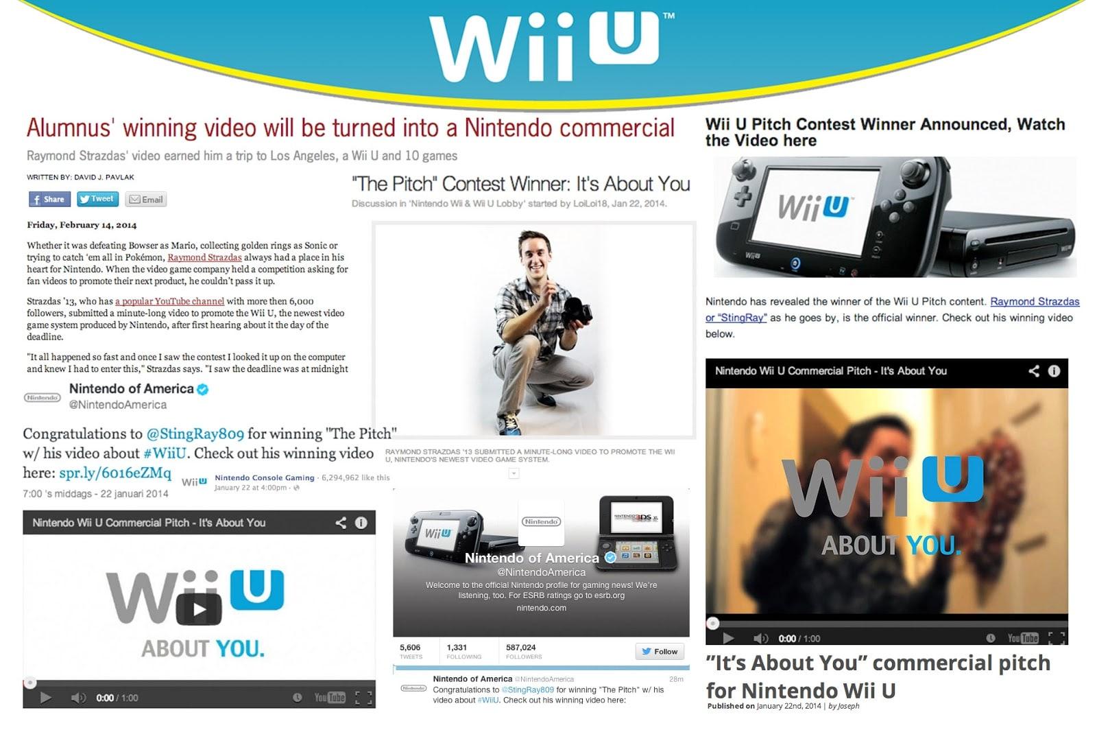 Nintendo Pitch for Wii U Ad Raymond Strazdas
