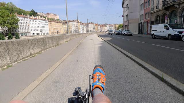 De Paris à Narbonne en vélo, Lyon