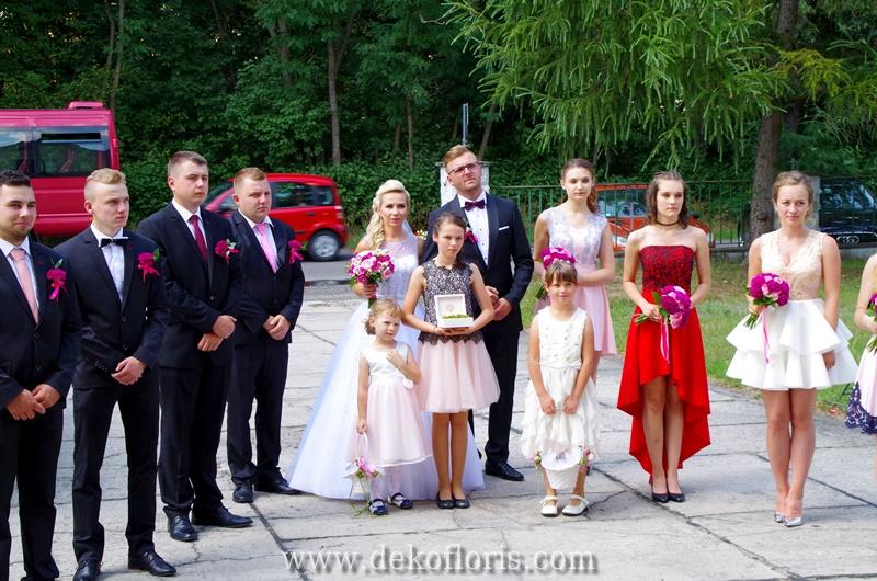 bukiety i butonierki Młoda Para, druhny i druzbowie