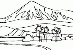 Bild Paisajes Paisajes De Montañas Y Rios Para Colorear