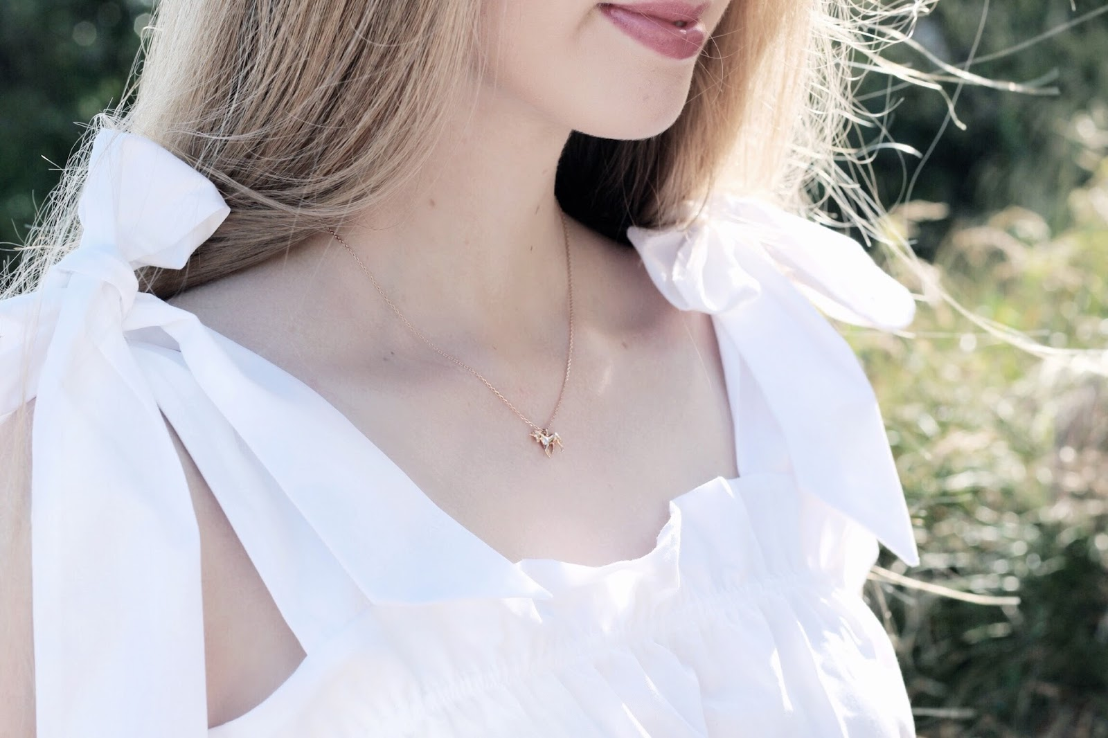 Estella Bartlett Rose Gold Unicorn Necklace
