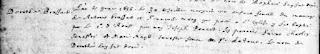 Baptism record of Dorothée Brassard