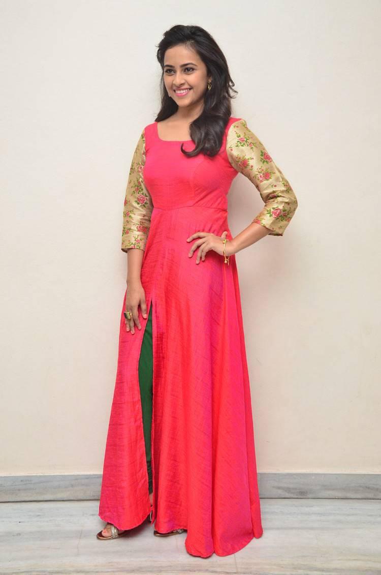 Kollywood Actress Sri Divya Stills In Red Dress At Movie Press Meet