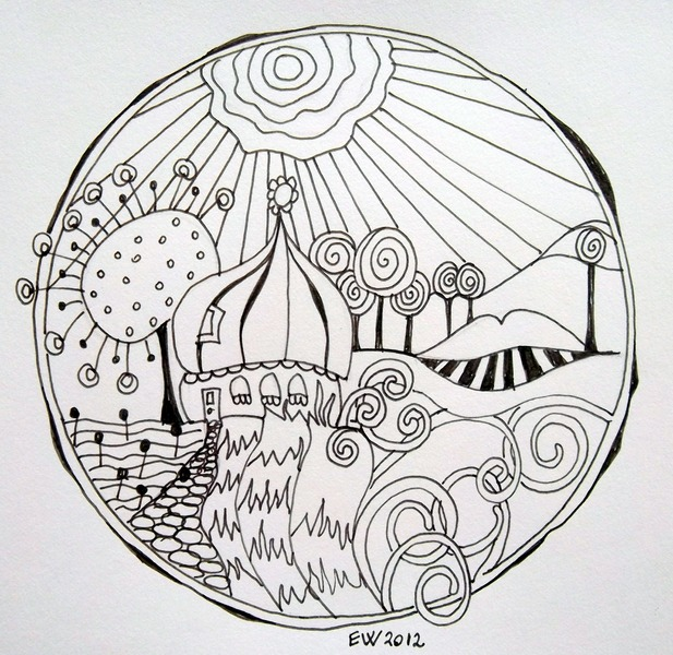 Malvorlage Gratis Hundertwasser Ausmalbilder