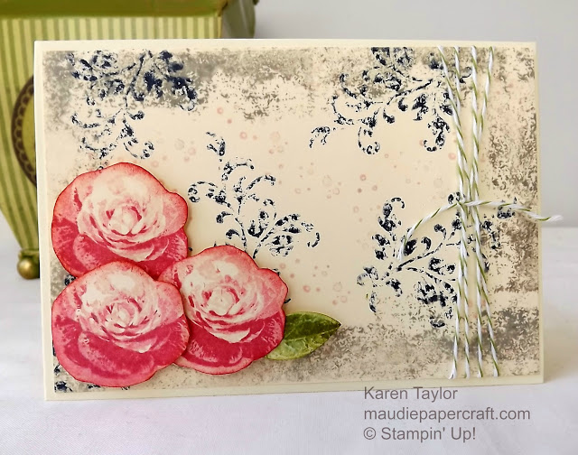 Stampin' Up! Timeless Textures meets Picture Perfect card