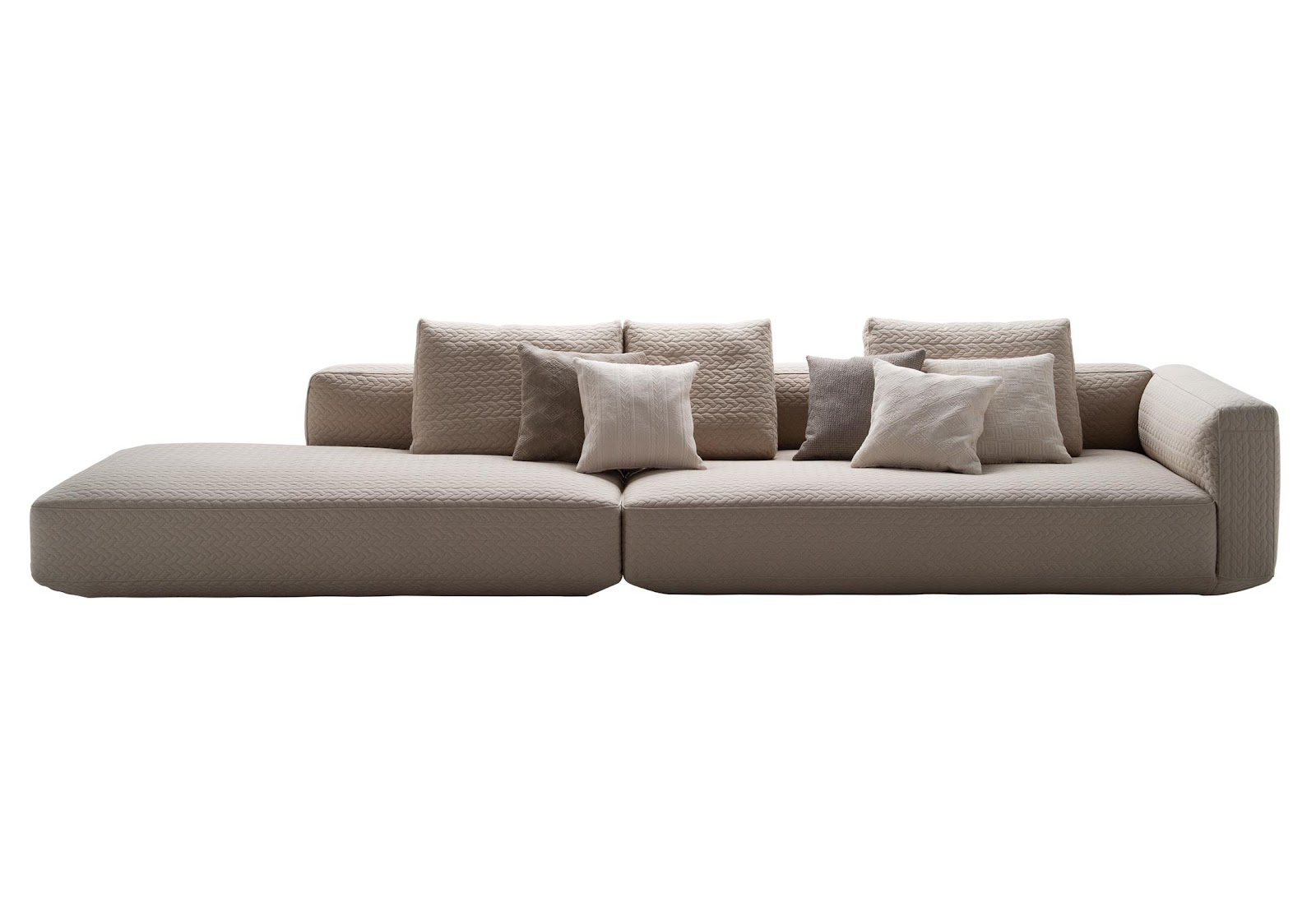 pottery barn goose down sofa kincaid sectional sofas altopiano by zanotta designer furniture fitted