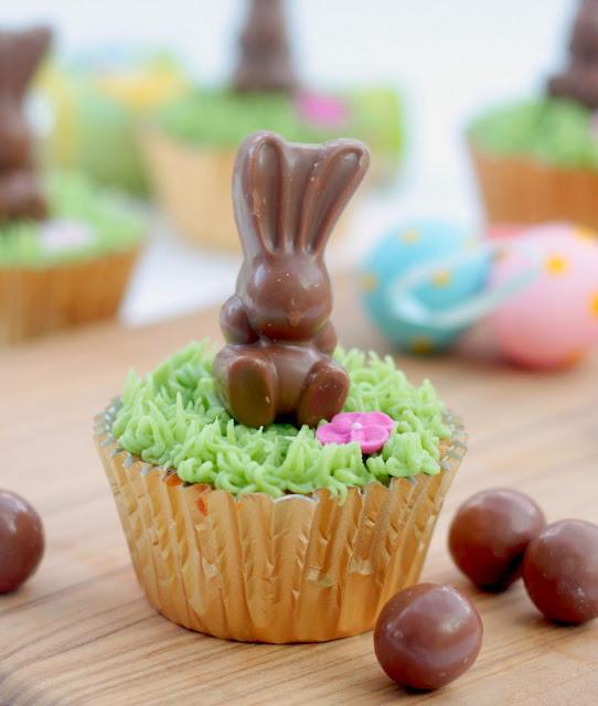 Malteaser bunny easter cupcake