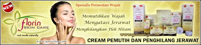 Produk Cream Pemutih Wajah Dan Penghilang Jerawat Florin Skin Care