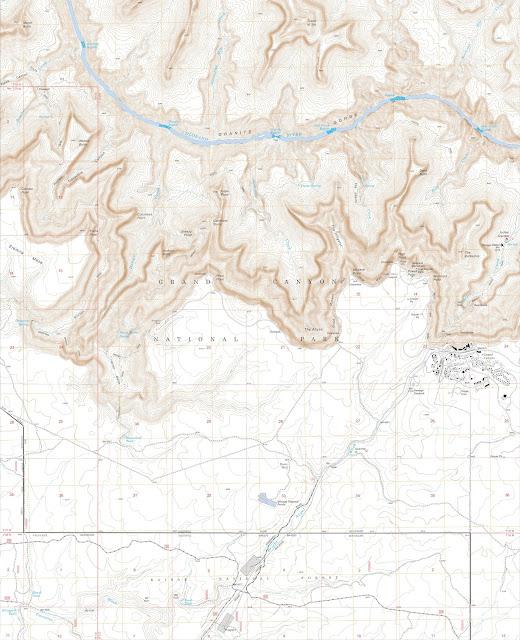 Départ du Bright Angel Trail