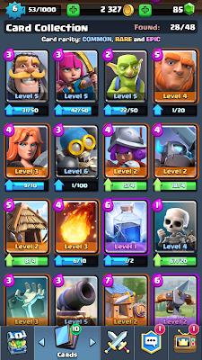 clash royal tarjetas