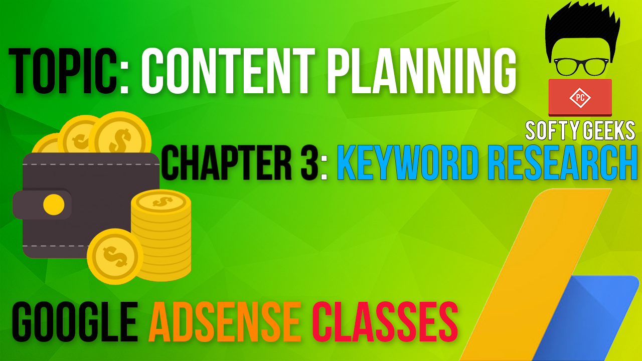 Google Adsense Classes:content Planning